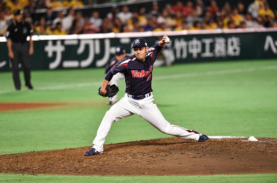 昨年の日本シリーズで活躍した久古健太郎。中継ぎは故障の多いポジションだが、怪我なく活躍を続けて欲しい。