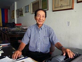 元コロンビア代表の日系人がいた!道工薫、90歳のサムライ蹴球人生。<Number Web> photograph by Toyoo Kitazawa