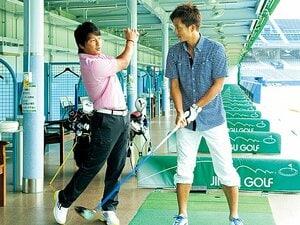 <アスリートはゴルフに夢中!> 三浦淳寛×福西崇史 「蹴るのも打つのもイメージは同じ」