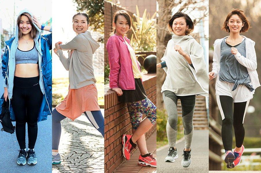 やっぱり走っている人はカッコいい!街で、公園で、皇居で。お洒落ランナーをスナップ!~美女はヒラヒラ編~<Number Web> photograph by Wataru Sato