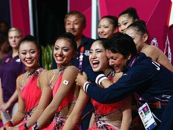 見事に復活を果たした新体操団体。山崎浩子の改革とフェアリー達の夢。<Number Web> photograph by Getty Images