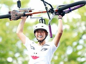 大池水杜は自転車で雄大に跳ぶ。日本女子で唯一W杯に参戦し初優勝!
