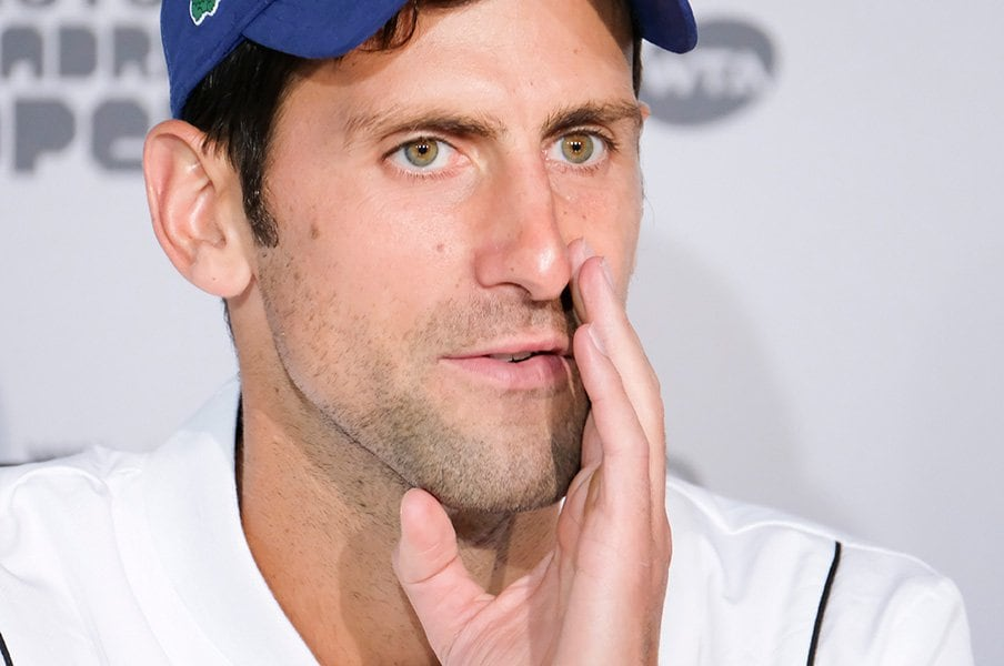 テニスの試合後会見はスリリングだ。ジョコビッチや杉田祐一に見た内面。<Number Web> photograph by Getty Images