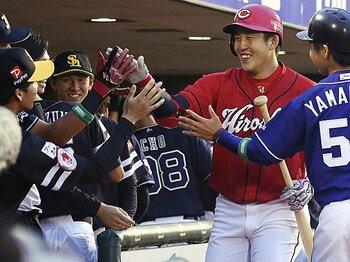 小園海斗の積極性、藤原恭大の足。ドラフトとは違う二軍球宴の楽しみ。<Number Web> photograph by Kyodo News