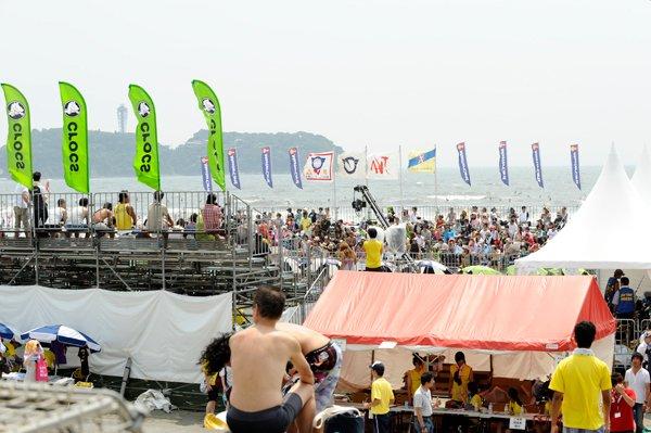 ビーチバレージャパン会場鵠沼海岸