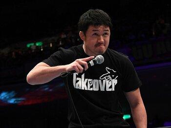 コーチに就任した柴田勝頼。彼の頭に引退の文字はない。~父から受け取った闘魂は、まだ消えない~<Number Web> photograph by Essei Hara