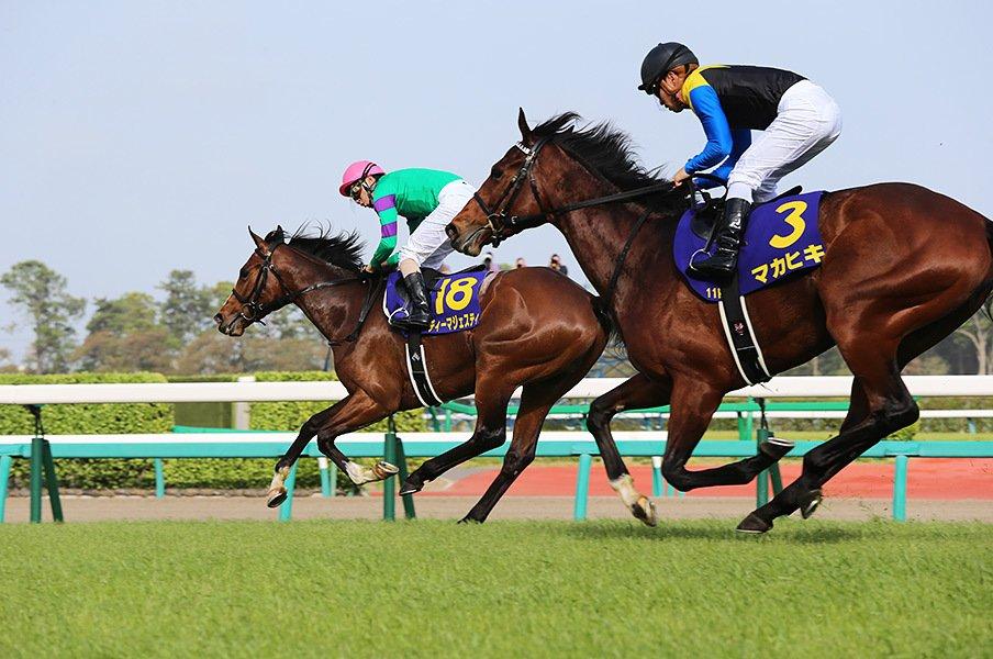 皐月賞の中山競馬場は直線が310m、ダービーの東京競馬場は525m。マカヒキの脚がより輝くことは間違いない。
