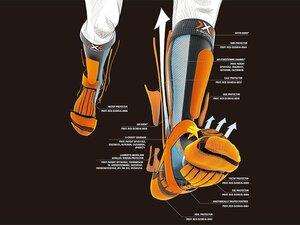 """""""素足より快適""""な履き心地でアスリートの能力をアップする、超高性能スポーツソックス。"""