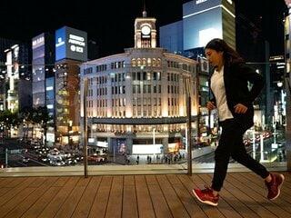 銀座をアシックス最新ランニングシューズ「GLIDERIDE」で走る!