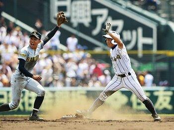 健大高崎の「機動破壊」今年も健在。ただの盗塁ではない、状況判断の力。<Number Web> photograph by Kyodo News