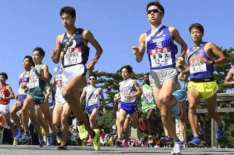 出雲駅伝の途中棄権はなぜ起きたか。金哲彦が分析する、駅伝の特殊さ。<Number Web> photograph by Kyodo News