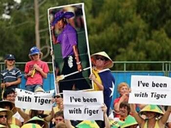 タイガー・ウッズ、復帰へのシナリオ。~性依存症→リハビリ→離婚→復帰~<Number Web> photograph by Getty Images