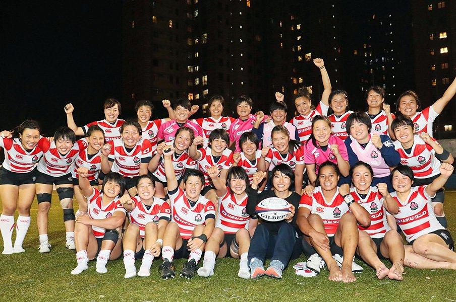 15年ぶり女子ラグビーW杯出場決定。岩渕GMは、残り8カ月で何をする?<Number Web> photograph by Kyodo News