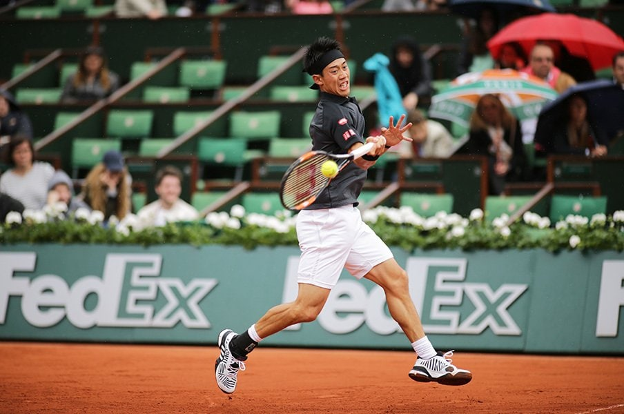賭けとテニスの微妙な関係――。錦織圭が全仏で優勝するオッズは?<Number Web> photograph by Hiromasa Mano