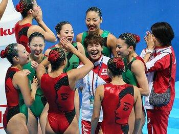 """""""シンクロの日本""""が帰ってきた!井村コーチ復帰で一気にメダル4個。 <Number Web> photograph by Yohei Osada/AFLO SPORT"""
