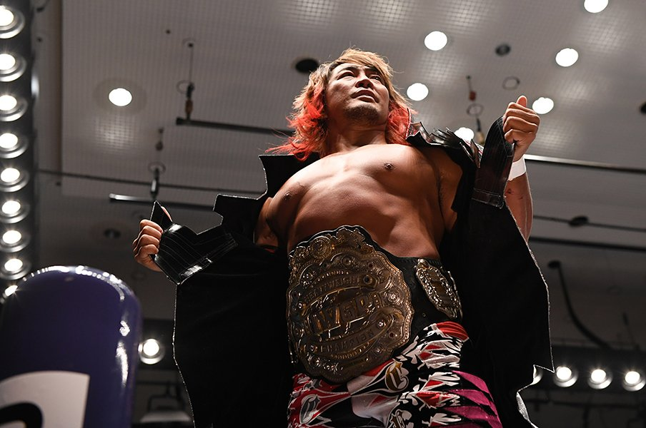 IWGP王者・棚橋弘至に感じる不安。2月の大阪で思い出す、あの敗北感。<Number Web> photograph by Essei Hara