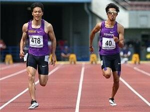 激戦の男子100m。~五輪参加標準10秒16以内に4人がひしめく~