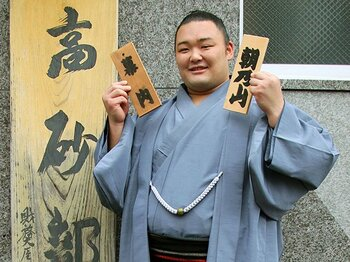 """名門部屋復活を牽引する朝乃山は""""本格派""""の星。~小兵の活躍が目立つなかで、188cmの体格は武器になる~<Number Web> photograph by Kyodo News"""