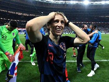「まだ走れます!」とクロアチア。3戦連続の延長戦を制して決勝へ。<Number Web> photograph by Getty Images