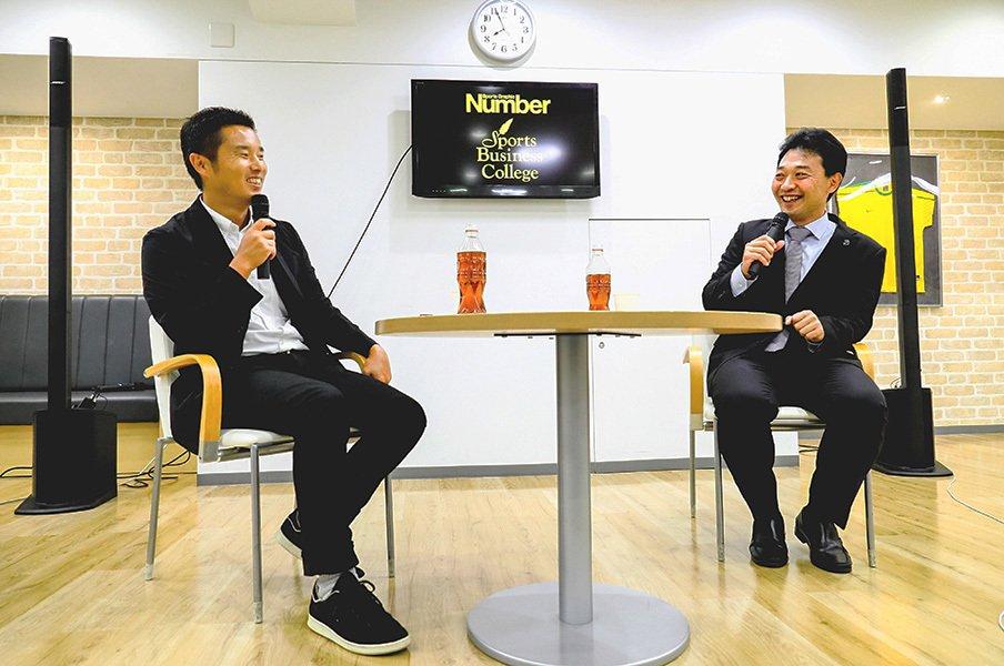「スクール・ウォーズ」以降の接点を。岩渕理事が語ったW杯以後のラグビー。<Number Web> photograph by Kiichi Matsumoto