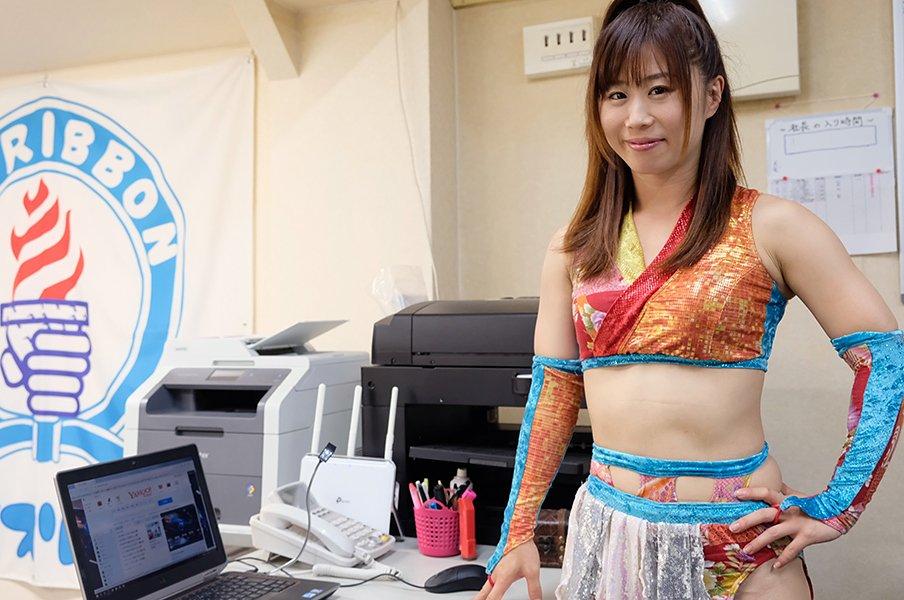 アイスリボン取締役にして現役王者、藤本つかさが語る「女性とプロレス」。<Number Web> photograph by Norihiro Hashimoto