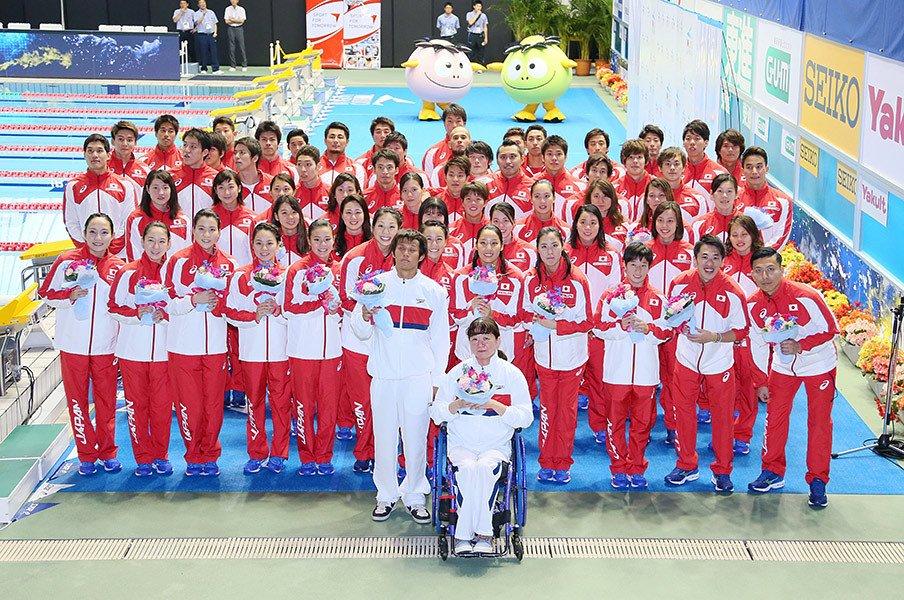 オリンピックとパラリンピックの溝。水泳日本代表の壮行会で感じたこと。<Number Web> photograph by AFLO
