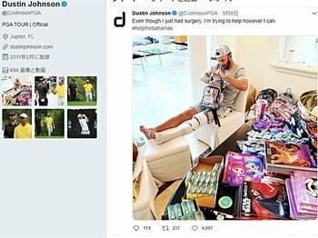 現世界3位のゴルファーに称賛の声。コルセット姿で支援物資を自ら……。<Number Web> photograph by Sports Graphic Number