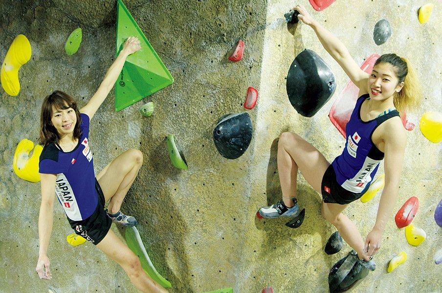 スポーツクライミング界初メダルを!野中生萌&野口啓代、五輪への思い。<Number Web> photograph by Atsushi Hashimoto