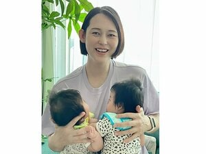 """腹筋すらできないのに…双子の母になった大山加奈が実感する""""復帰するアスリート""""のスゴさ「絵里香、さくらちゃんを尊敬する」"""