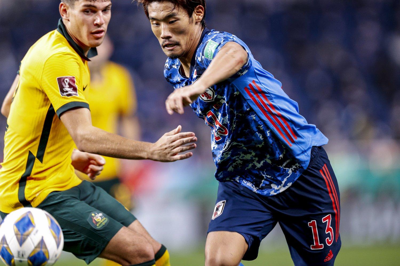 絶体絶命の大一番で、オーストラリアに勝ち越した日本代表。この勝利は非常に大きい ©Kiichi Matsumoto/JMPA