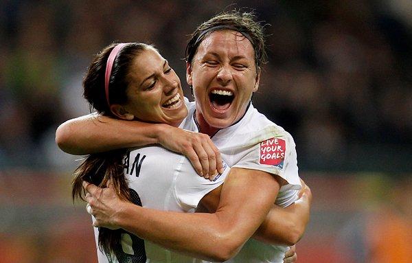サッカー女子W杯2011決勝、米代表のモーガンとワンバック