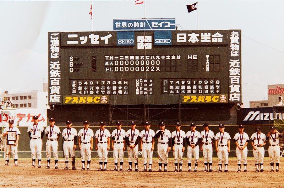 """""""打倒PL""""に燃えた'84年の大産大高。最強の古巣に挑んだ監督の物語。<Number Web> photograph by Number(Yasuhiro Yokota)"""