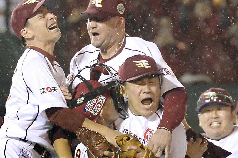 震災に響いた「ピッチャー、田中」。独断!平成プロ野球名勝負ベスト10。<Number Web> photograph by Kyodo News