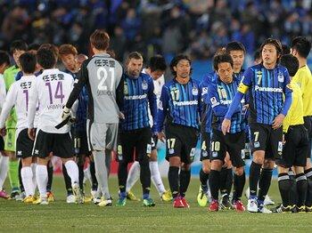 """""""昨年の悪夢""""がよぎったが……。ガンバ大阪、J2開幕戦ドローの意味。<Number Web> photograph by NIKKAN SPORTS"""