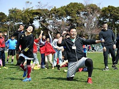 キッズスポーツキャンプin湘南、開催! 井上康生と五郎丸歩が伝えたかったこと。
