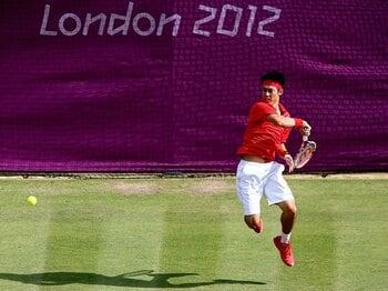 錦織圭、92年ぶりのベスト4は逃すも、五輪テニスに光を当てた快進撃。<Number Web> photograph by Getty Images