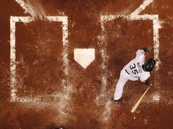 """華々しい本塁打の影に貧打の苦しみ。松井秀喜は""""忍""""の一字で機運を待つ。<Number Web> photograph by Getty Images"""