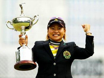日本一の称号を手にした馬場ゆかりの発想転換。~日本女子オープン優勝の秘密~<Number Web> photograph by Taku Miyamoto
