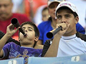 ブブゼラ騒動で考えた、野球と音の正しい関係。<Number Web> photograph by AFLO