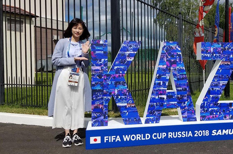 コロンビア戦の感動をどう伝えるか。フジアナウンサー、もう1つの戦い。<Number Web> photograph by Yui Suzuki