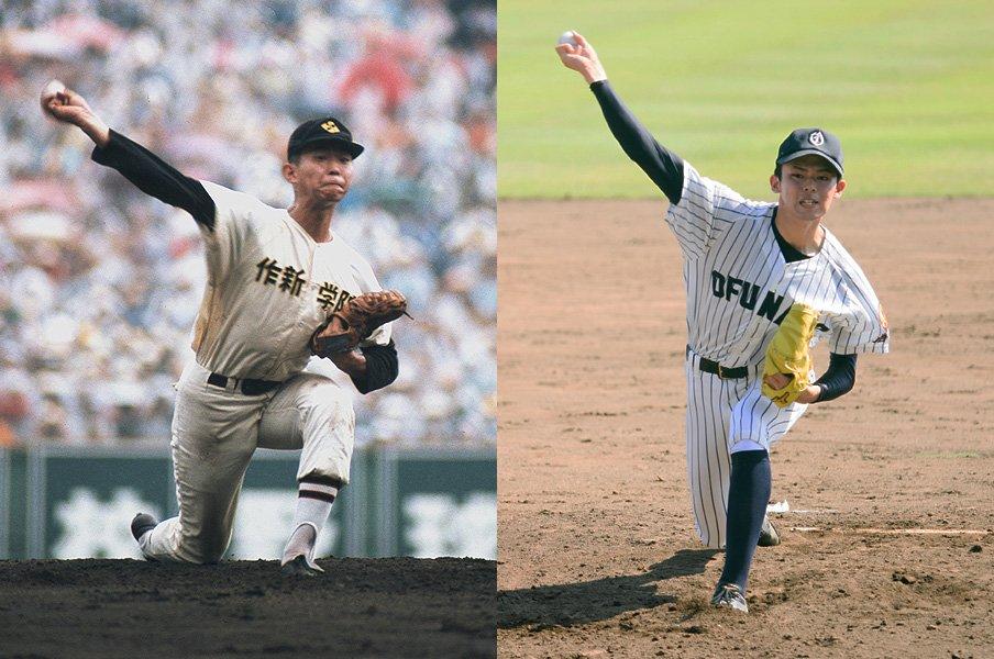 高校野球史上最高の投手なのか……。佐々木朗希を江川卓と比較してみた。<Number Web> photograph by (L)Kyodo News/(R)Asami Enomoto