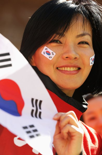 韓国の女性サポーター