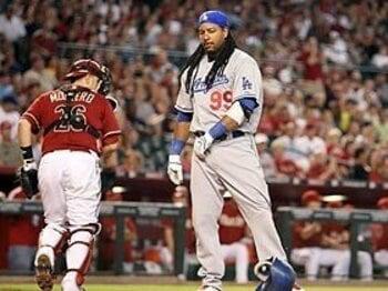 最強ドジャースの失速とマニー・ラミレスの「スランプ」。<Number Web> photograph by Getty Images