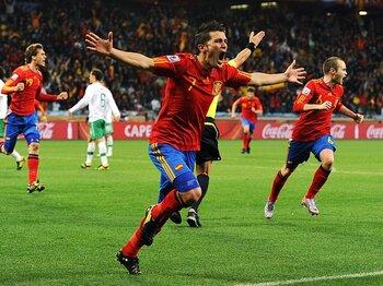 スイス戦の敗北から学んだスペイン。デルボスケ監督のパラグアイ対策。<Number Web> photograph by Getty Images