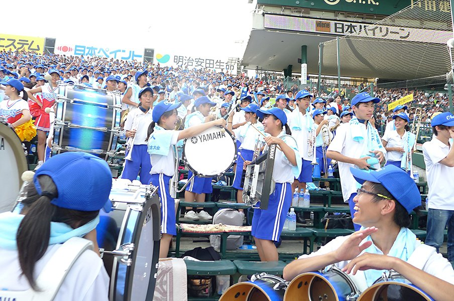 ラップ、演歌、怪人、魔曲……。夏の甲子園、注目のブラバン応援は?<Number Web> photograph by Yukiko Umetsu