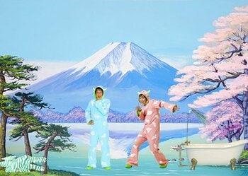川崎フロンターレの名物部長、再び。今度はNHKのキャラとコラボだ!<Number Web> photograph by Frontale/NHK・NED