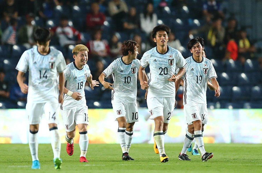 森保ジャパン初陣、U-20W杯組ゼロ。東京五輪世代は「すべてが競争」。<Number Web> photograph by Getty Images
