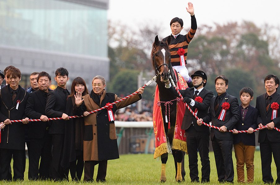 ジャパンカップでのキタサンブラックと北島氏。獲得賞金がすでに9億5千万ほどになる同馬に、年末の国民の期待がかかる!