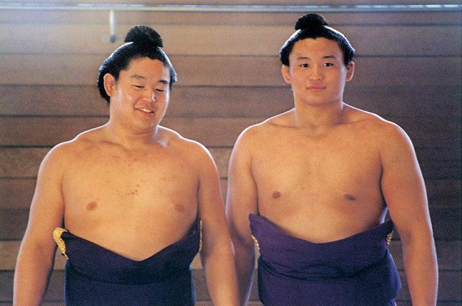 元・若乃花と小錦が語る平成3年、大相撲戦国時代は生きるか死ぬか。<Number Web> photograph by BUNGEISHUNJU