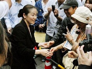 """谷亮子の参院選出馬で、""""決断""""を迫られる全柔連。~「当選しても現役続行」の波紋~<Number Web> photograph by KYODO"""